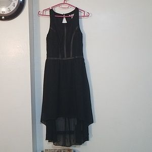 black dress long front short back